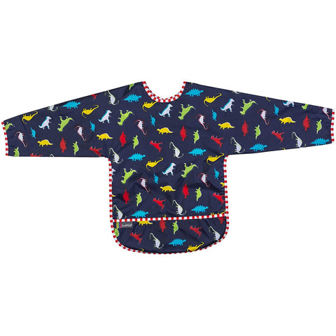 Kushies Bib With Sleeves - Dinos (4-6 Yrs)