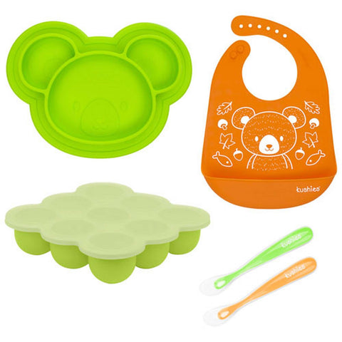 Kushies Siliset All-In-One Silicone Gift Set Neutral Other Feeding KUSHIES - Kido Bebe