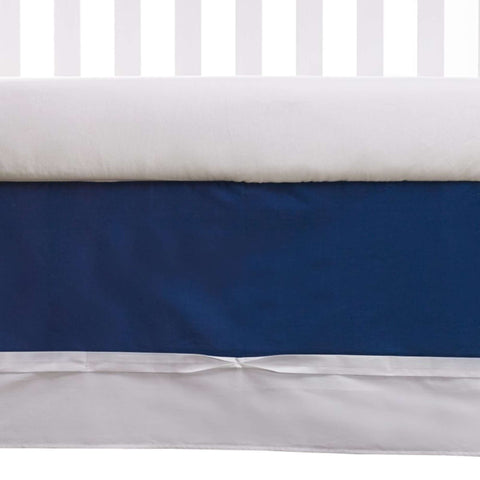 Living Textiles Bed Skirt - Navy Crib Skirts LIVING 63 - Kido Bebe