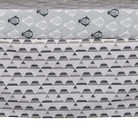Lolli Living Grey Triangle Bed Skirt Crib Skirts LOLLI - Kido Bebe
