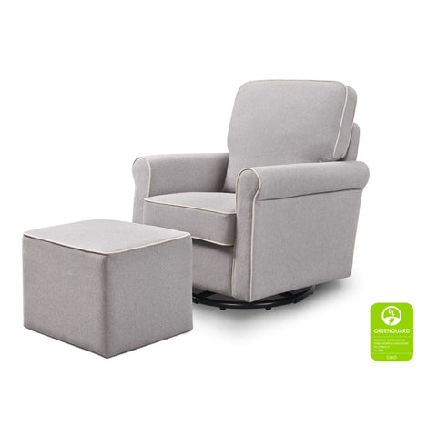 DAVINCI Maya Swivel Glider and Ottoman