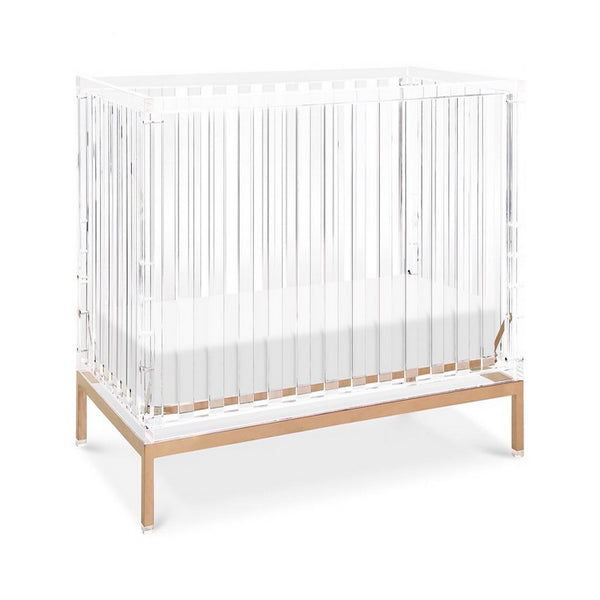 NURSERY WORKS Luma Crib Acrylic with Rose Gold
