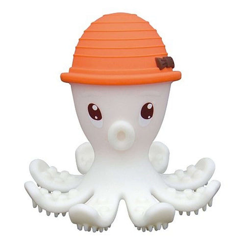 MOMBELLA Octopus Teether & Gum Massager - Jouets de dentition orange MOMBELLA - Kido Bebe