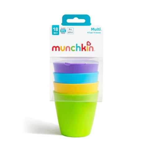 MUNCHKIN Multi Open Cup 8 onces - 4 Pack