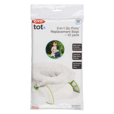 Oxo On The Go Potty - 10 Disposable Bags Potties & Toilet Trainers OXO TOT - Kido Bebe
