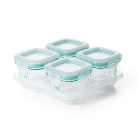 OXO TOT Glass Blocks - Teal Food Containers OXO TOT - Kido Bebe