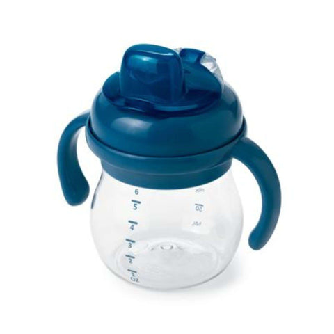 OXO TOT Transitions Soft Sippy Spout Cup With Handles (6 Oz) - Navy Drinkware OXO TOT - Kido Bebe