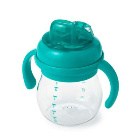 OXO TOT Transitions Soft Sippy Spout Cup With Handles (6 Oz) - Teal Drinkware OXO TOT - Kido Bebe