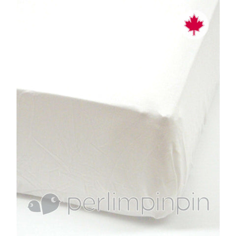 Perlimpinpin Mix & Match Crib Fitted Sheet - White Crib Fitted Sheets PERLIM PINPIN - Kido Bebe