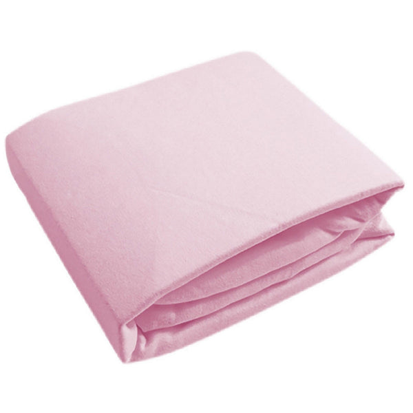 Kushies Crib Sheet Flannel - Pink