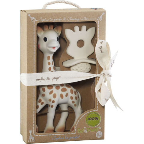 So' Pure Sophiethe Giraffe +Chewing Rubber So'Pure Teething Toys SOPHIE LA GIRAFE - Kido Bebe