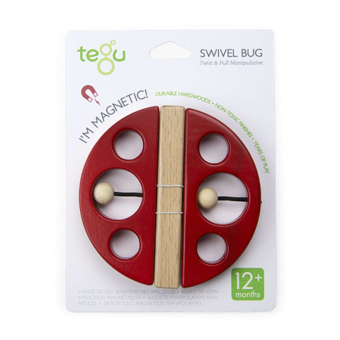 TEGU - Swivel Bug A - Ladybug Shape - Red Baby Toys TEGU - Kido Bebe