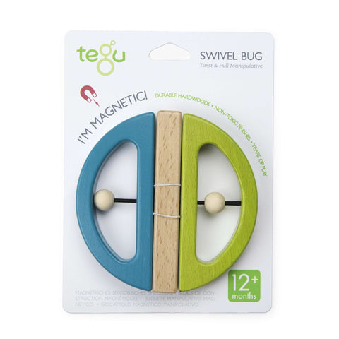 TEGU - Swivel Bug C - Open Wings - Teal and Green Baby Toys TEGU - Kido Bebe