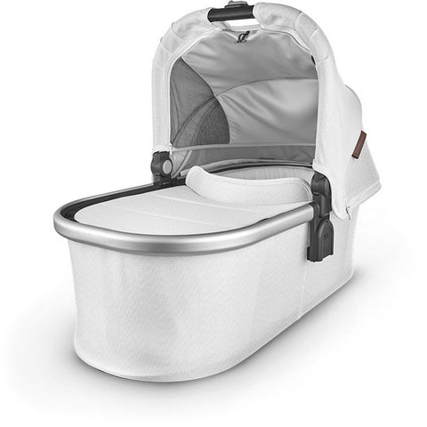 UPPABABY Bassinet V2 - Bryce (White Marl/Silver/Saddle Leather)
