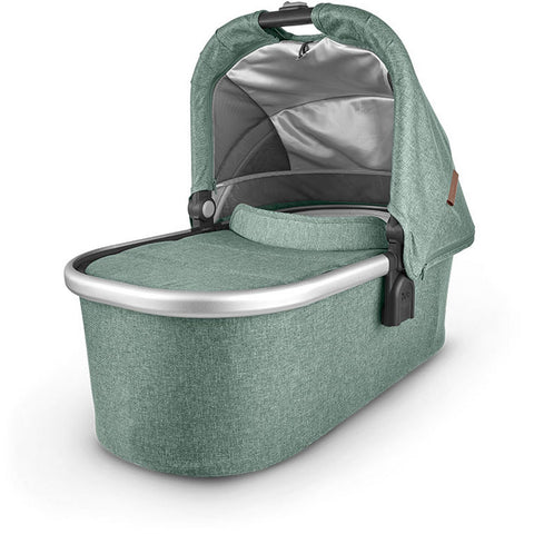UPPABABY Bassinet V2 - Emmett (Green Melange/Silver/Saddle Leather)