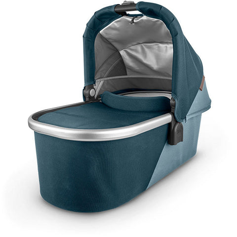 UPPABABY Bassinet V2 - Finn (Deep Sea/Silver/Chestnut Leather)
