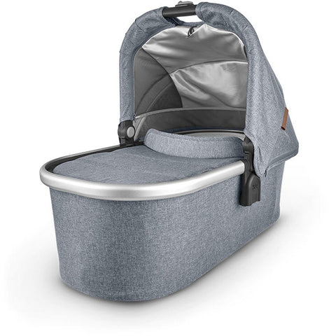 UPPABABY Bassinet V2 - Gregory (Blue Melange/Silver/Saddle Leather)