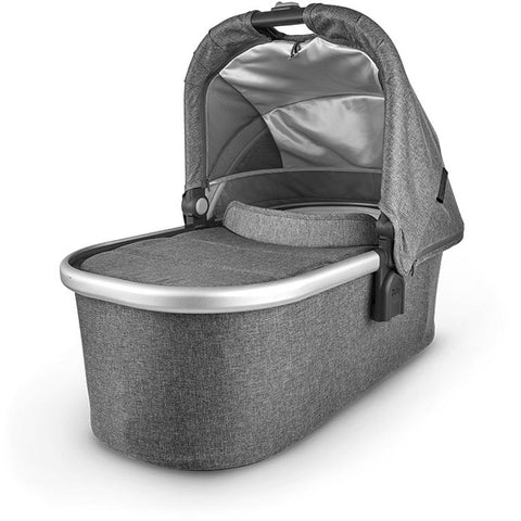 UPPABABY Bassinet V2 - Jordan (Charcoal Melange/Silver/Black Leather)