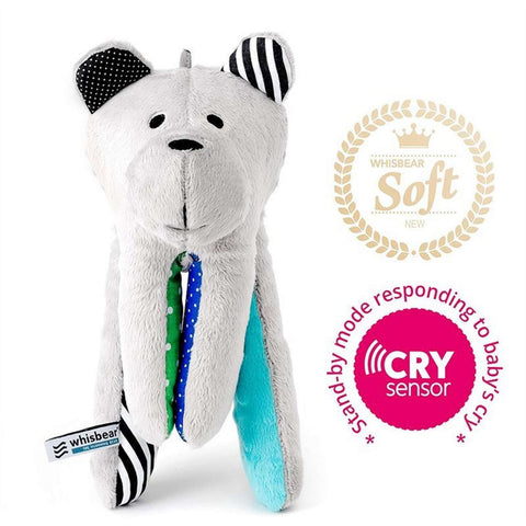 WHISBEAR The Humming Bear with Cry Sensor Function (Baby Plush Animal) - Turquoise Plushes & Soft Toys WHISBEAR - Kido Bebe