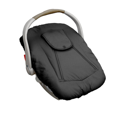 JOLLY JUMPER Sneak-A-Peek (Arctic) Cover for Infant Car Seat (Includes Blanket) - Black