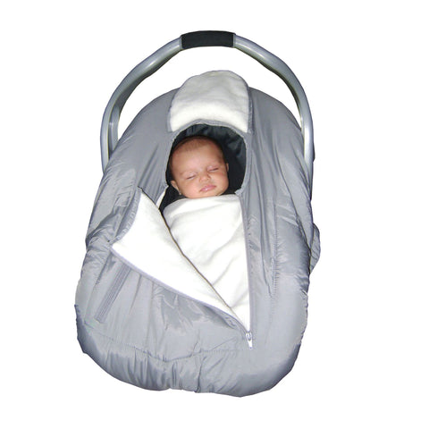 JOLLY JUMPER Sneak-A-Peek (Arctic) Cover for Infant Car Seat (Includes Blanket) - GREY