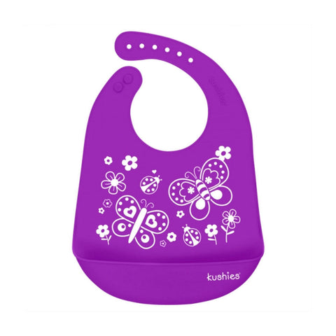 Bavoir KUSHIES Silicatch Butterfly Kiss - Violet