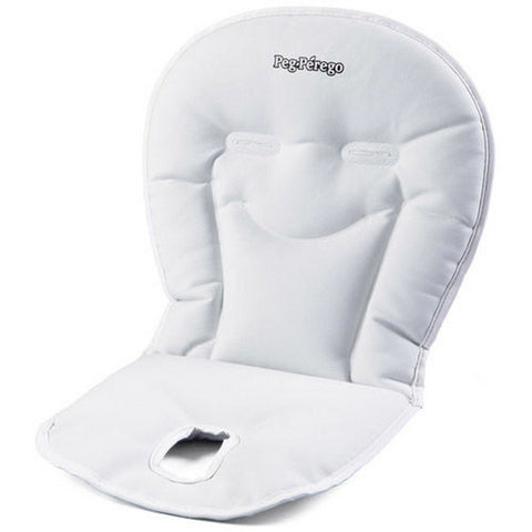 PEG PEREGO Booster Cushion High Chair Accessories - Latte (Lovely White Eco Leather)