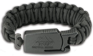 OUTDOOR EDGE OEPCK90C PARA CLAW BLACK LARGE PARACORD BRACELET