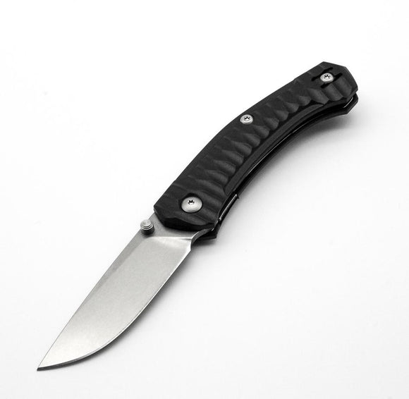 GIANT MOUSE ACE KNIVES IONA BLACK TUMBLED FINISH M390 STEEL FOLDING KNIFE.