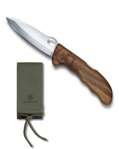 SWISS ARMY VICTORINOX 0.9410.63US2 HUNTER PRO WOOD POCKET KNIFE WITH POUCH