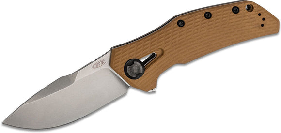 ZERO TOLERANCE 0308 CPM-20CV TI/G10 HANDLE STONEWASH LARGE FOLDING KNIFE.