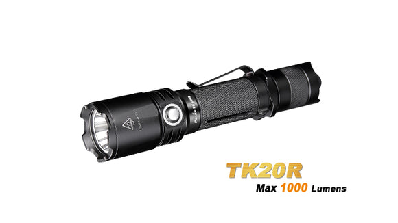 FENIX TK20R 1000 LUMEN USB RECHARGEABLE 18650 CR123 FLASHLIGHT.
