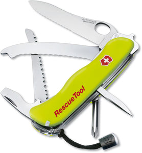 SWISS ARMY VICTORINOX 53900 RESCUE TOOL YELLOW MULTI FUNCTION KNIFE.
