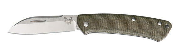 BENCHMADE 319 PROPER SLIPJOINT SHEEPSFOOT CPM-S30V STEEL FOLDING KNIFE.