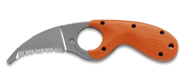 CRKT 2510ER BEAR CLAW ER RESCUE RUSS KOMMER NECK FIXED BLADE KNIFE WITH SHEATH.