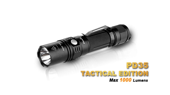 FENIX PD35 TACTICAL 1000 LUMEN 18650 OR CR123A POWERED HIGH OUTPUT FLASHLIGHT.