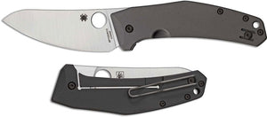 SPYDERCO C211TIP SPYDIE CHEF TI LC200N PLAIN EDGE FOLDING KNIFE.