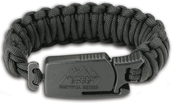 OUTDOOR EDGE OEPCK80C PARA CLAW BLACK MEDIUM PARACORD BRACELET