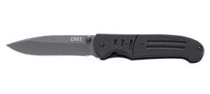 CRKT 6860 OUTBURST IGNITOR BLACK BLACK KEN STEIGERWALT PLAIN EDGE FOLDING KNIFE