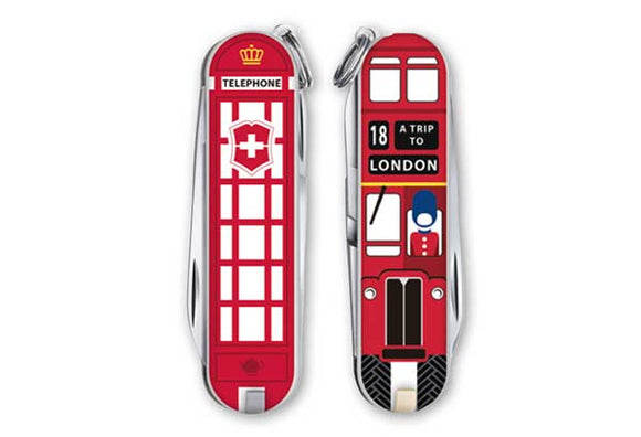 SWISS ARMY VICTORINOX 0.6223.L1808US2 CLASSIC LONDON POCKET KNIFE.