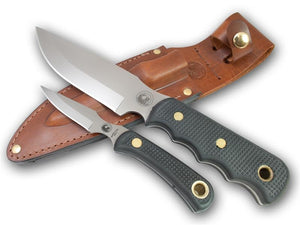 KNIVES OF ALASKA 00035FG BUSH CAMP/CUB COMBO SUREGRIP KNIFE WITH LEATHER SHEATH
