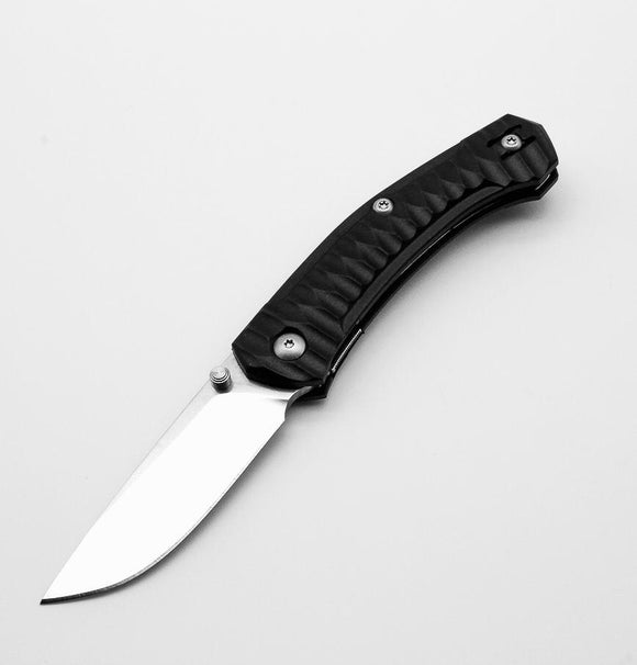 GIANT MOUSE ACE KNIVES IONA BLACK SATIN FINISH M390 STEEL FOLDING KNIFE.