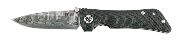 SOUTHERN GRIND SG06030808 SPIDER MONKEY DAMASCUS STEEL CF FOLDING KNIFE.