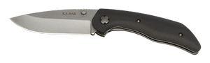 KABAR 7505 JAROSZ AUS8A STEEL PLAIN EDGE SATIN BLADE FOLDING KNIFE