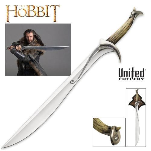 UNITED CUTLERY LOTR UC2928 HOBBIT ORCRIST SWORD OF THORIN OAKENSHIEL SWORD