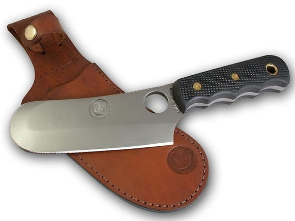 KNIVES OF ALASKA 00001FG BROWN BEAR SUREGRIP FIXED BLADE KNIFE W/LEATHER SHEATH
