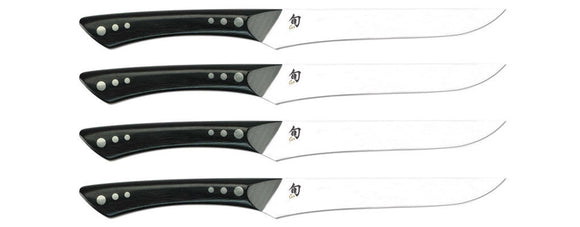 SHUN DMS0430 SHIMA 4 PIECE STEAK SET.GRACEFUL DESIGN, RAZOR-SHARP EDGE
