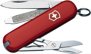 SWISS ARMY VICTORINOX 53001 CLASSIC SD RED MULTI FUNCTION POCKET KNIFE.