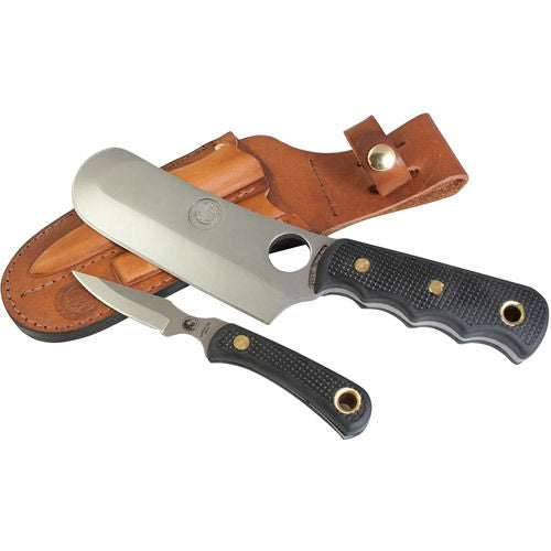 KNIVES OF ALASKA 00003FG BROWN BEAR/CUB COMBO SUREGRIP KNIFE WITH LEATHER SHEAT