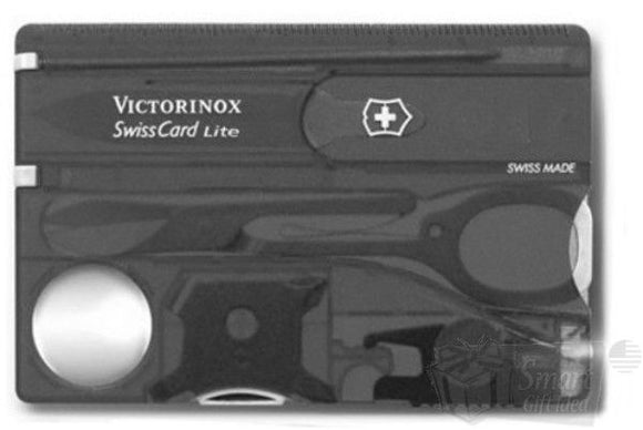 SWISS ARMY VICTORINOX 53333 SWISSCARD LITE ONYX SWISS CARD HANDY POCKET TOOL